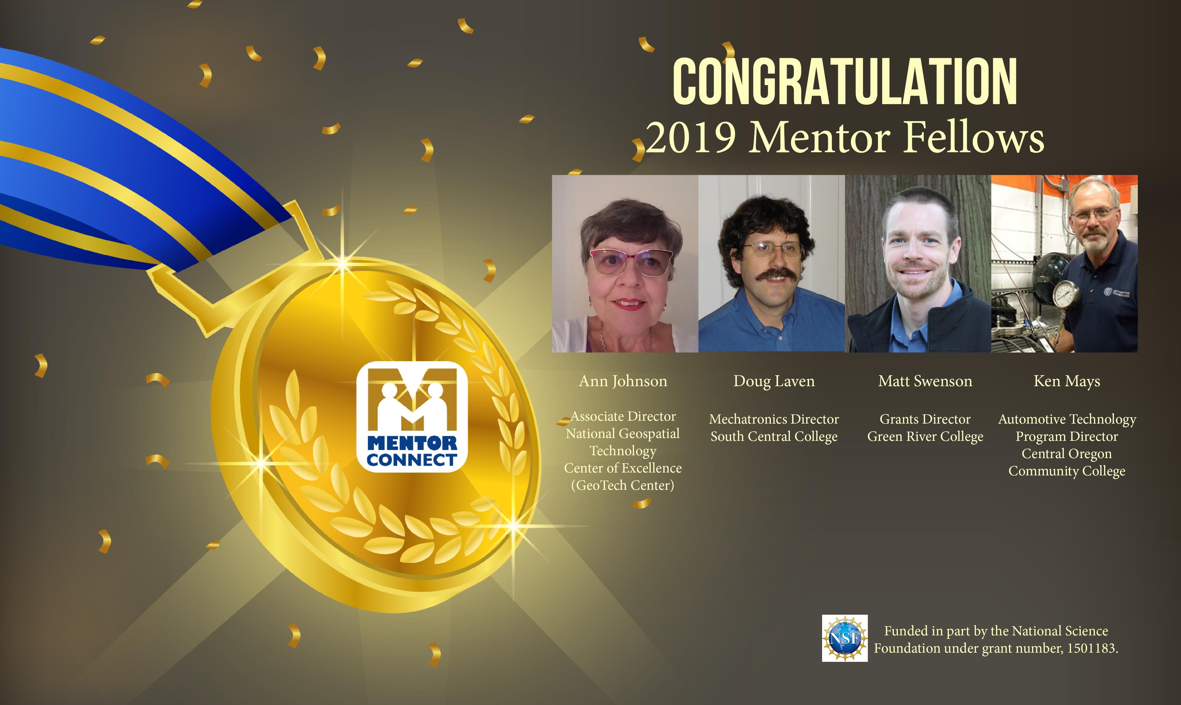Congratulations to the four selected 2019 Mentor Fellows